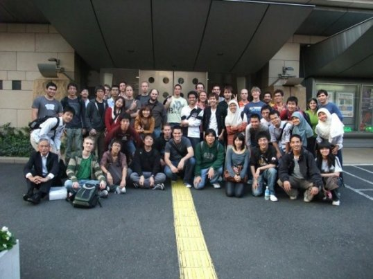 YSEP students at honjo safety learning center
