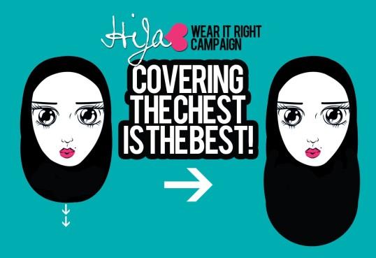 hijab menutup dada